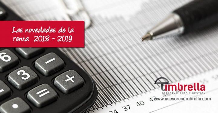 Las novedades de la declaración de la Renta 2018-2019