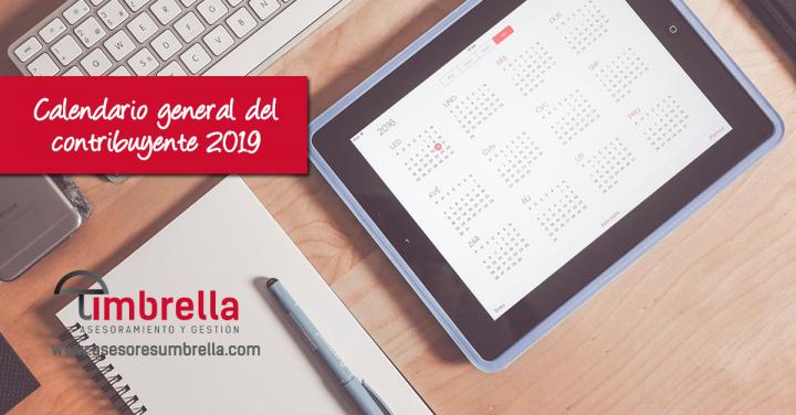 Calendario general del contribuyente 2019 para julio y agosto