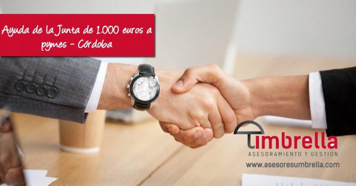 Ayuda de la Junta de 1.000 euros a pymes – Córdoba